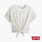 Levis 女款 短袖綁帶T恤 / 中短版 / 簡約條紋