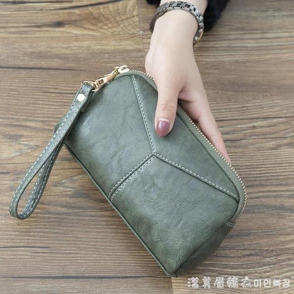 2020新款日韓長款女士女包簡約百搭手拿包簡約零錢手抓包手機包 美眉新品