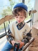 毛衣 男童毛衣套頭潮秋冬款兒童毛衣男童寶寶春秋款小童針織衫洋氣馬甲【全館免運】