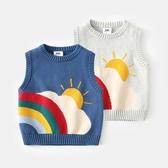 兒童馬甲秋冬毛衣男童針織嬰兒背心小童裝坎肩套頭男寶寶秋裝馬夾