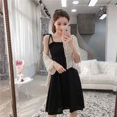 新款春夏韓版裹胸修身抹胸收腰無袖繫帶吊帶洋裝打底背心裙 卡布奇诺