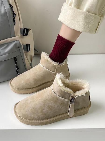 網紅雪地靴女ins潮2020年新款冬季韓版百搭加絨加厚保暖面包棉鞋 童趣潮品