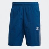 ADDAS ORIGINALS 藍 三線 白LOGO 短褲 男 (布魯克林) 2019/05月 DV1578