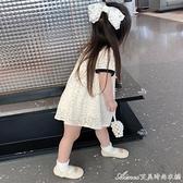 女童小香風洋裝/連身裙夏季2021韓版時尚女寶寶裙子女孩洋氣公主裙 快速出貨