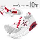 MNX15 - 質感配色真皮內增高氣墊休閒鞋 Cooper-紅 UP 10 cm