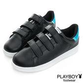 PLAYBOY 簡約生活 單色百搭定番款休閒鞋-黑