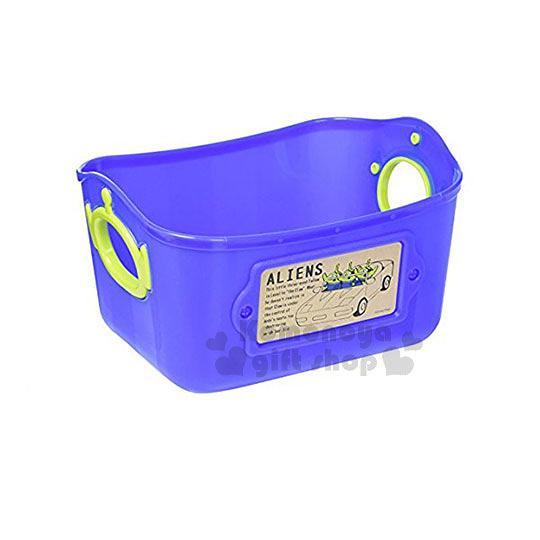 〔小禮堂〕迪士尼 三眼怪 日製軟式收納盒《L.紫藍》2.5L 4904121-34201