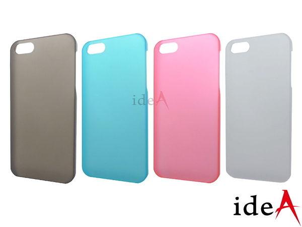 IDEA iPhone5S/5 彩色糖果霧面磨砂超薄手機保護殼 半透明防指紋彈性硬殼 Apple 蘋果5
