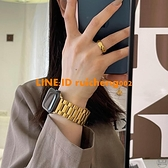 TATAN啞光實心不銹鋼不掉色男女款蘋果表帶適用于iwatch123456se