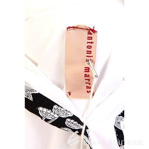 KENZO-antonio marras 白色拼接花朵七分袖襯衫 0620172-20