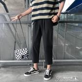 西裝褲-男秋季百搭寬鬆韓版潮流長褲休閒褲直筒闊腿褲西裝褲 提拉米蘇