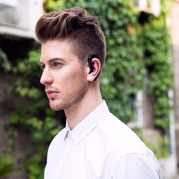 現貨當天寄出 華為通用無線藍芽耳機掛耳式運動骨傳導概念不入耳塞vivo蘋果oppo 小艾時尚