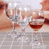 6只加厚無鉛玻璃小紅酒杯高腳杯葡萄酒杯白酒杯套裝家用酒店
