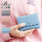 女皮夾 可愛韓風波浪設計多卡層零錢包短夾【NQAG5179】