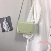 小方包 抹茶綠包包女2019新款韓版潮單肩斜背包小方包時尚高級感洋氣女包 5色
