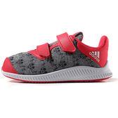 Adidas Disney 男女孩 小童鞋 紅 灰 白 魔鬼氈 休閒運動鞋 BA9911