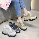 鬆糕鞋 內增高鞋內增高網鞋女8cm運動休閒鞋韓版厚底松糕老爹鞋2021春夏季女鞋潮