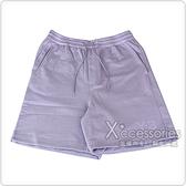 Y-3褲延字母LOGO經典純棉運動短褲(紫)