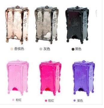 預購-立體蝴蝶薔薇帶蓋化妝棉收納盒 底部抽取卸妝棉盒