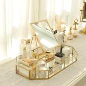 居曼希歐式台式桌面化妝鏡梳妝結婚公主復古隨身便攜美容單面大鏡 陽光好物