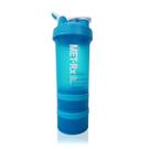 MET-Rx 美瑞克斯 健身運動專用搖搖杯 附鋼球 450ml (藍)