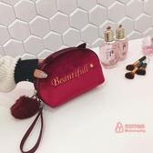化妝包 化妝包同款小號多功能大容量隨身手拿旅行便攜簡約收納袋 4色