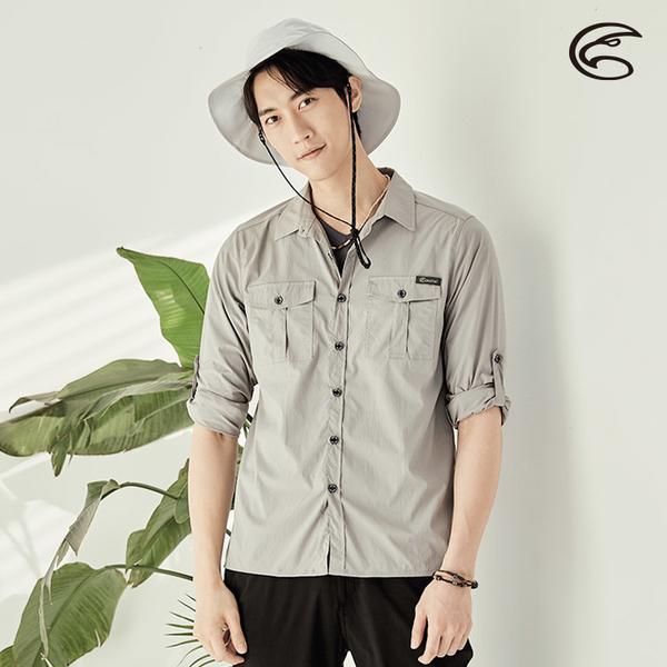 ADISI 男透氣快乾抗UV長袖襯衫AL2111128 (M-2XL) / 吸濕排汗 防曬 抗紫外線 透氣 速乾 快乾 UPF50+