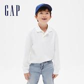 Gap男童簡約風格長袖POLO衫537946-光感白