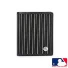 Backbager 背包族【MLB 美國大聯盟 】洋基 條紋直式8卡 皮夾/短夾/錢包-(黑色)