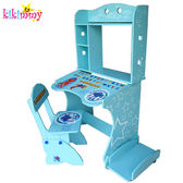 A0777【KIKIMMY】升降電腦桌-淡藍 K080_B