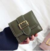 韓版潮卡包個性迷你小錢夾新款摺疊學生小清新零錢包短款女士   卡布奇諾