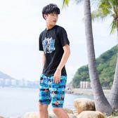 寬鬆大褲衩大碼短褲沙灘褲男士速幹海邊度假五分褲溫泉泳褲    初語生活