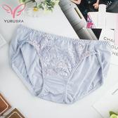 【玉如阿姨】鄰家花園內褲。三角-低腰-性感-蕾絲-專區任兩件5折-台灣製。※R20
