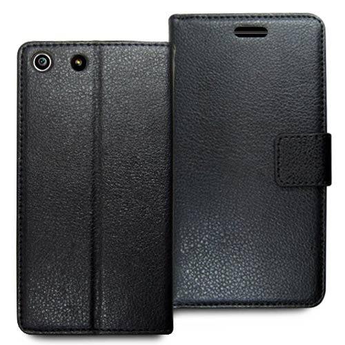 ★皮套達人★ SONY Xperia M5 5吋精緻荔枝紋支架造型皮套 + 螢幕保護貼  (郵寄免運)