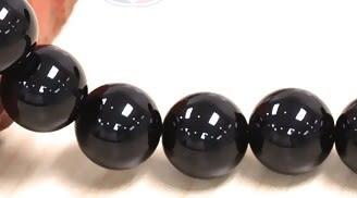 [協貿國際]天然黑玉髓散珠14MM29顆圓珠批發價