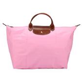 LONGCHAMP 短提把大型摺疊水餃包(粉紅色)480102-058