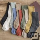 5雙裝 襪子女純棉中筒襪日系學院風長襪薄款堆堆襪【左岸男裝】
