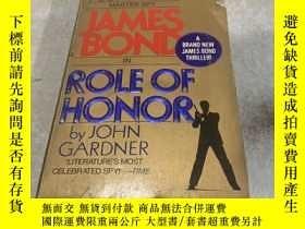 二手書博民逛書店ROLE罕見OF HONOR(榮譽的作用)(英文)Y200392