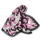 Calvin Klein滿版品牌字母寬版披肩薄圍巾(洋紅黑)103262