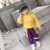 女童運動套裝 新款寶寶裝女童加厚洋氣套裝兒童運動小童兩件套 快速出貨