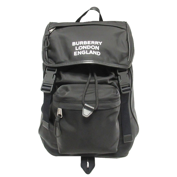 BURBERRY 巴寶莉 黑色尼龍後背包 Rocky Backpack 8018113【二手名牌BRAND OFF】