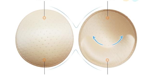 【現貨】梨卡 - 加厚3公分【提拉上托透氣+包覆感】圓形愛心內衣比基尼泳衣透氣海綿胸墊CLA120