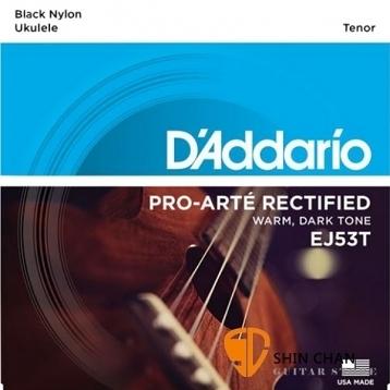 D'Addario EJ53T 26吋烏克麗麗弦 銀繞黑色尼龍弦/1套4條弦 【Tenor Ukulele/DAddario】