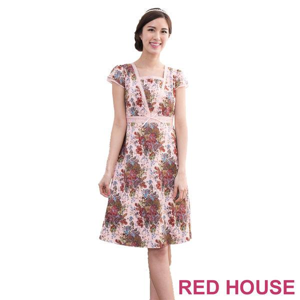 【RED HOUSE-蕾赫斯】滿版花紋蕾絲洋裝(共二色)