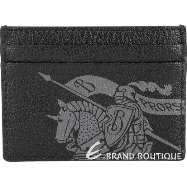 BURBERRY 徽標印花皮革卡片夾(鐵鏽紅x黑) 1920453-54
