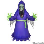 節慶王【W007873】充氣5尺模擬臉巫婆,萬聖節/充氣/擺飾/好收納/佈置/打卡神器/拱門
