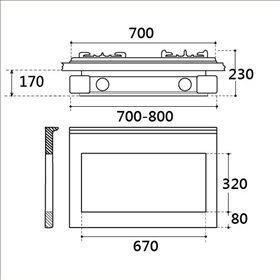 [家事達]  SK-2051 豪山牌 環銅爐頭☆琺瑯☆不鏽鋼☆雙口崁入瓦斯爐  特價