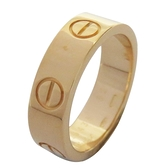 Cartier 卡地亞 Love Ring 18K金戒指 #52 【二手名牌BRAND OFF】
