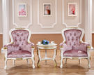 巴洛克歐式新古典公主椅化妝椅書桌椅沙發粉050853通販屋