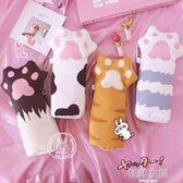 日繫軟萌可愛創意少女心貓爪造型筆袋學生文具大容量收納袋文具盒 韓語空間